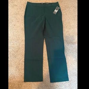 Apt 9 Mid Rise - Straight Dress Pants (green)-new!